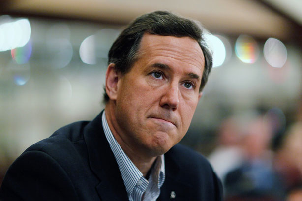 rick santorum sad