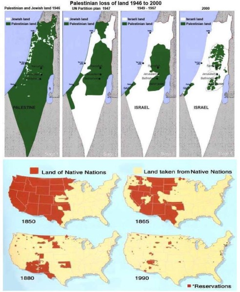 Israel palestine a map to consider carefully blog for arizona palestinian land loss 1946 2000 native american land loss 1850 1990 gumiabroncs Gallery