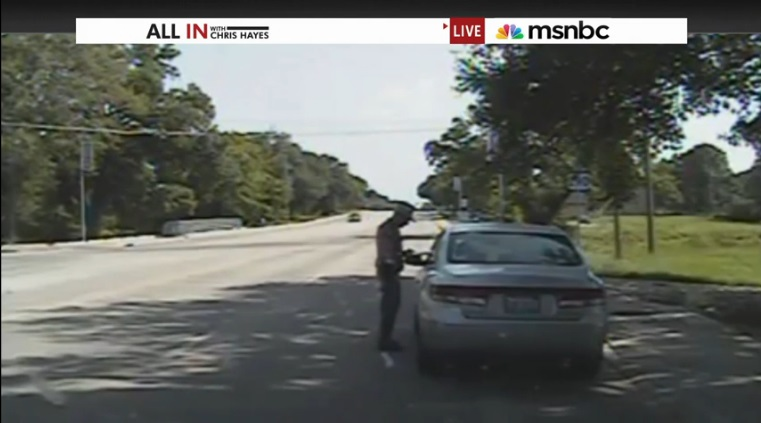 Sandra Bland arrest screenshot
