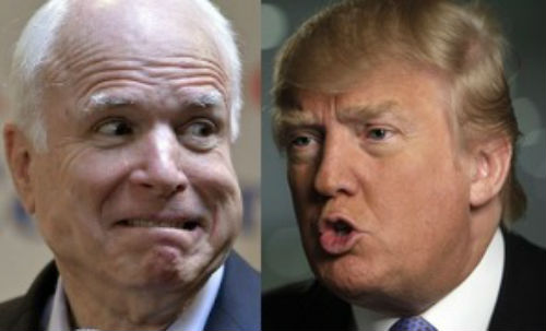 Image result for john mccain donald trump