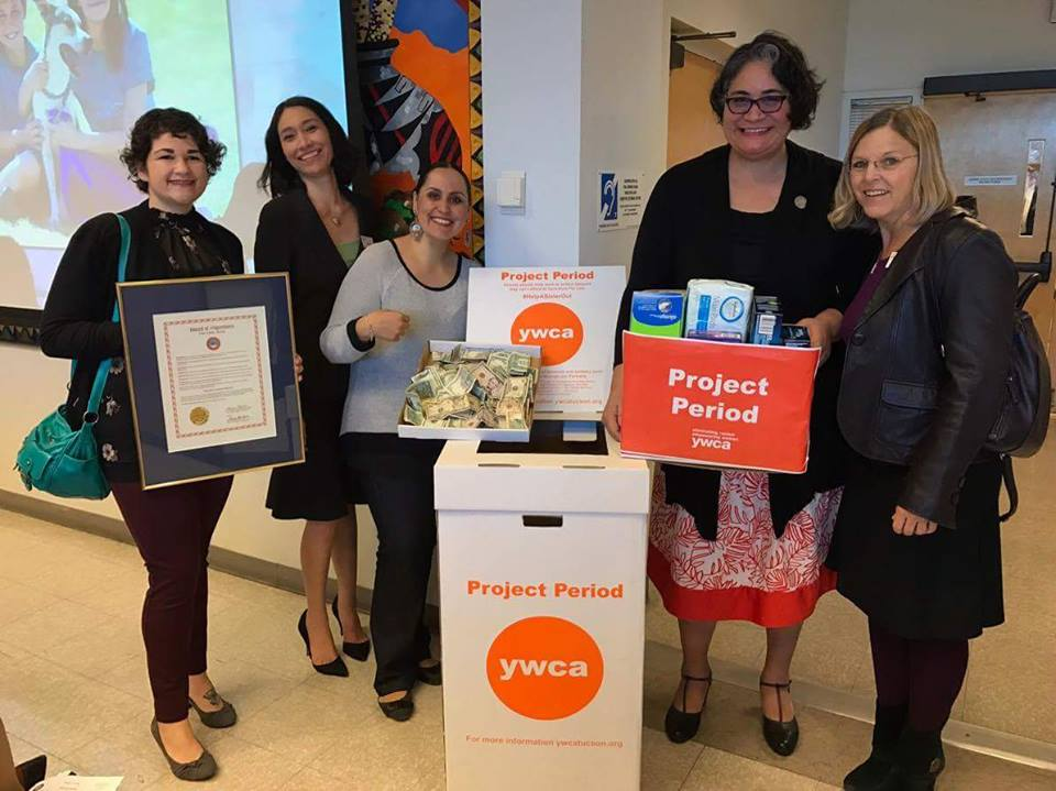 YWCA of Southern Arizona staff with Project Period Month proclamation