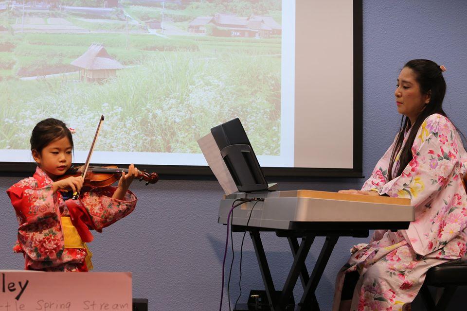 Ayla Moreno (violin) and Shiho Takeda (piano)