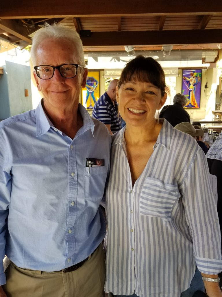 Bruce Wheeler, candidate for US Congress, and fellow Democrat Victoria Steele, candidate for State Senate.