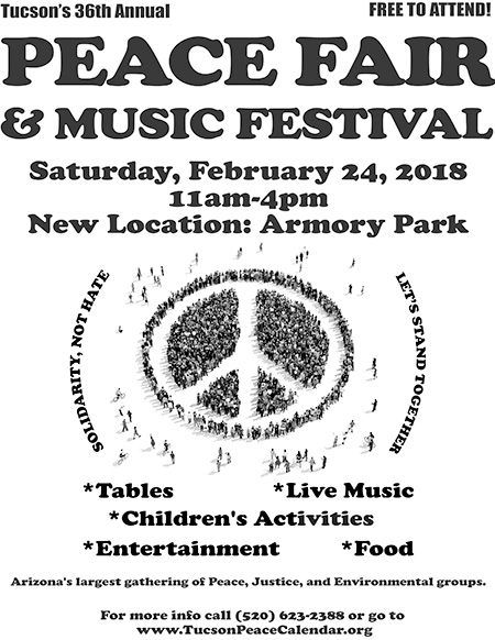 36th Annual Tucson Peace Fair & Music Festival @ Armory Park | Tucson | Arizona | United States