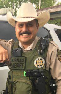 Danny Morales loves posing in uniforms.