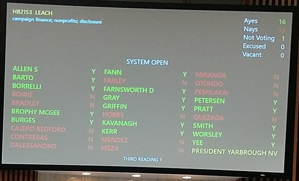 Dark Money Vote 3-29-18