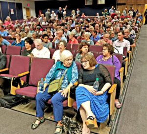 More than 300 people attended the Democratic Gubernatorial Candidates Debate.
