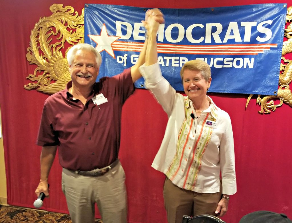 Ralph Atchue and Ret. Colonel Hollace Lyon, LD11 Democratic state legislature candidates.
