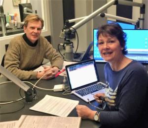 Journalist Larry Bodine and State Senator Victoria Steele.