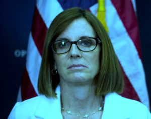 Martha McSally frowning