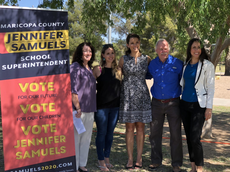 As Maricopa County School Superintendent, Jennifer Samuels pledges to be an advocate for Students and Teachers.