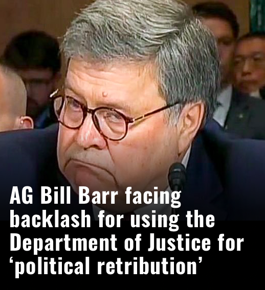 'Billie Belongs Behind Barr's' Corrupted 'Injustice' Department