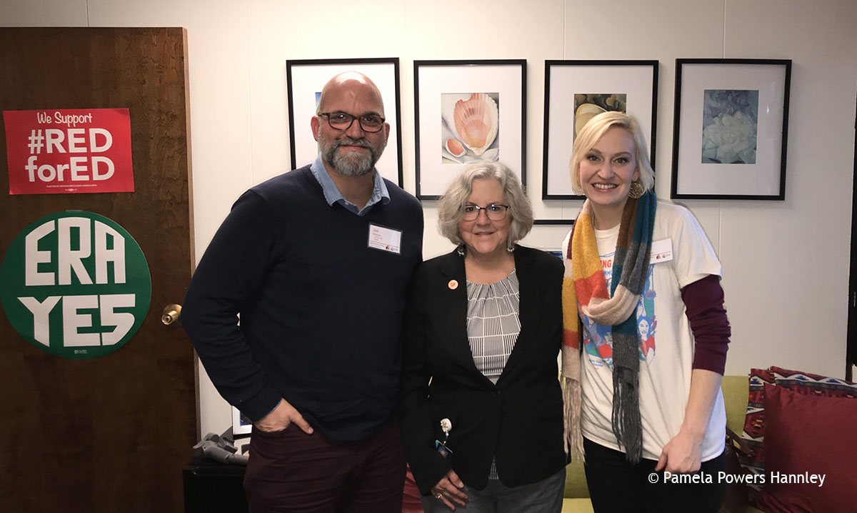 Rep. Powers Hannley with prison reform advocates