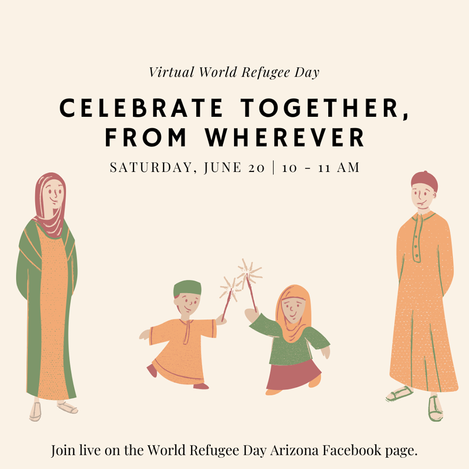 Order a free button for Virtual World Refugee Day