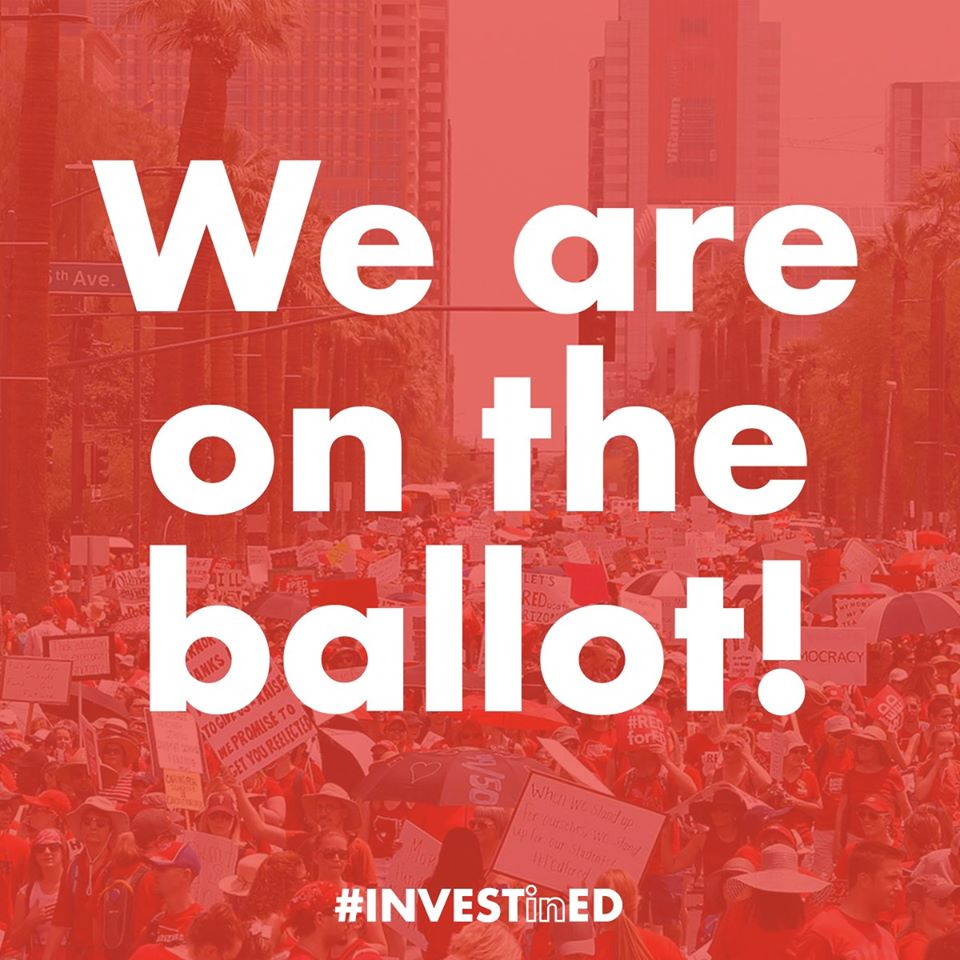 Arizona's Children won at the State Supreme Court: Invest in Ed is back on the November Ballot