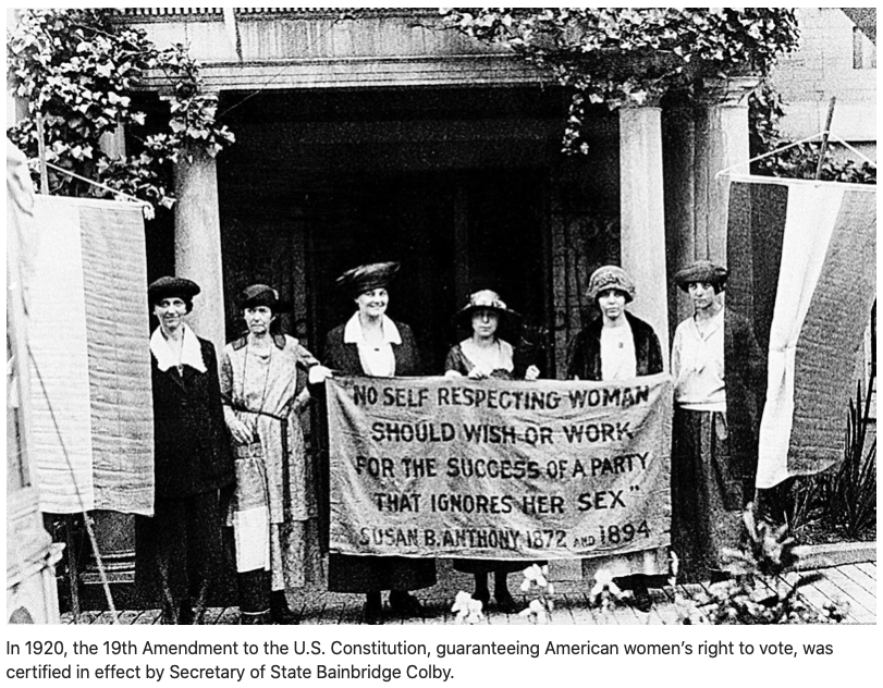 Women's Equality Day, an aspirational goal not yet fully realized