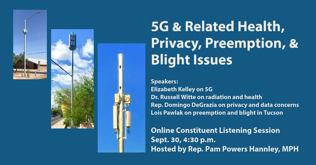Forum on 5G on Sept 30: Health, Privacy, Preemption & Blight (video)