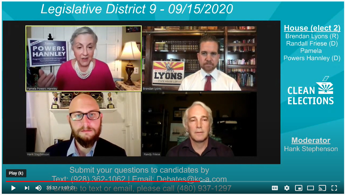 Watch the LD9 Clean Elections Debate (video)