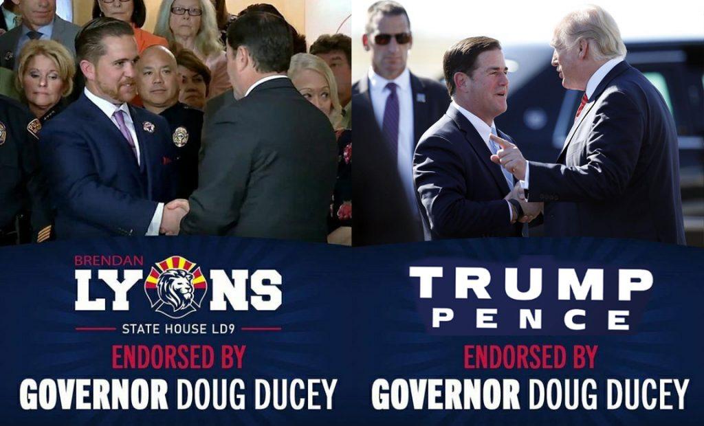 Brendan Lyons, Doug Ducey, Donald Trump