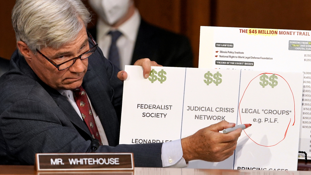 Sen. Sheldon Whitehouse Gives A Masterclass On GOP Corruption Of The Courts