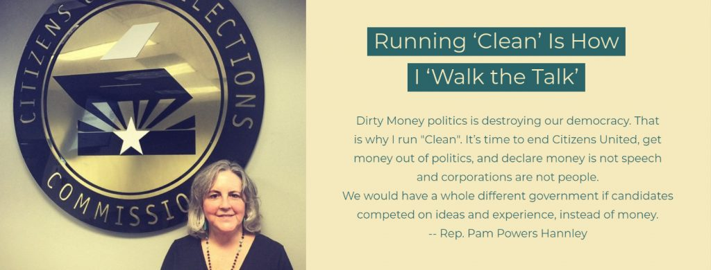 Rep. Pam Powers Hannley, Clean Elections candidate
