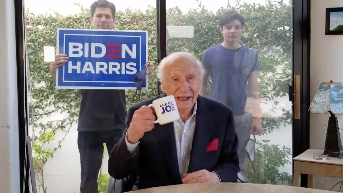 Comic Legend Mel Brooks comes out for Joe Biden