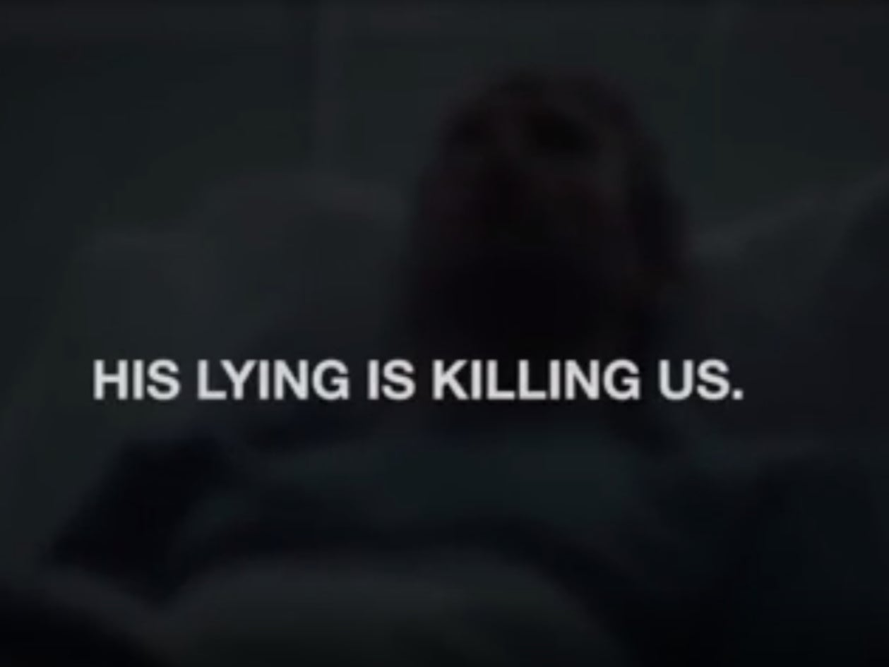 "Watch the Sad and Haunting Lincoln Project Ad ""Hospital"""