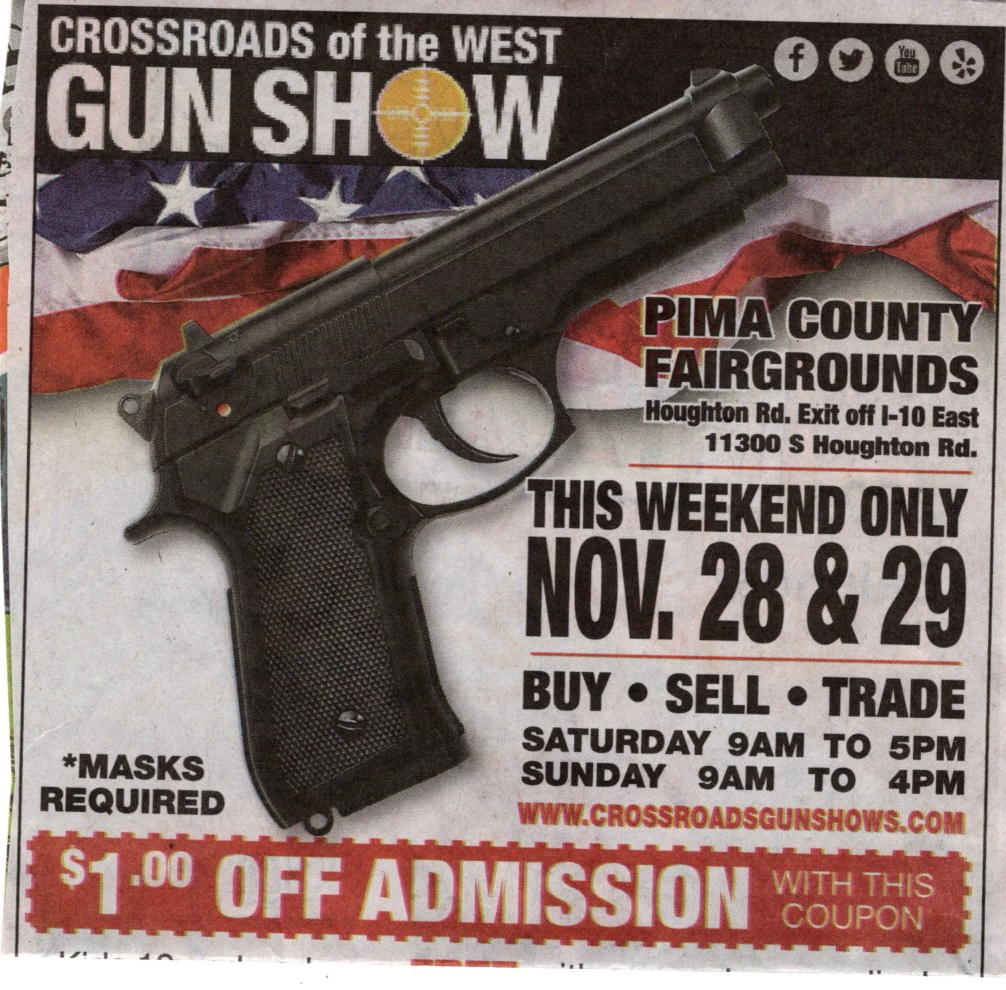 Tell the Pima Supervisors: We Want Background Checks at the Gun Show