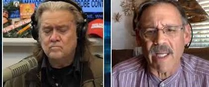 Watch Mark Finchem Spread Scary Claims while Bonding with Indicted Steve Bannon